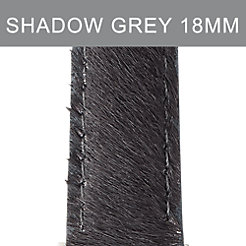 18mm Shadow Grey Pony Hair Strap