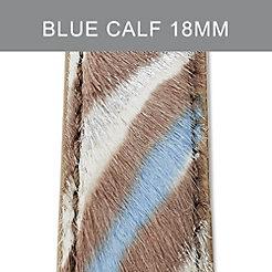 18mm Blue Zebra Strap
