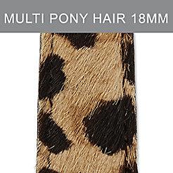 18mm Leopard Print Pony Hair Strap