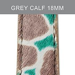 18mm Grey Cheetah Strap
