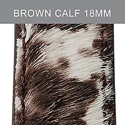 18mm Brown White Calf Hair Strap