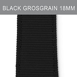 18mm Black Grosgrain Strap