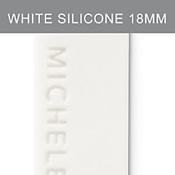 18mm White Silicone Strap
