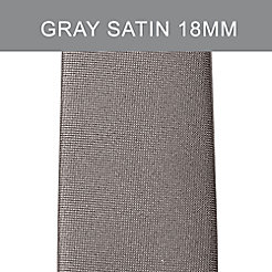 18mm Gray Satin Tech Strap
