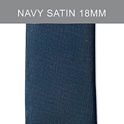 18mm Midnight Navy Satin Strap