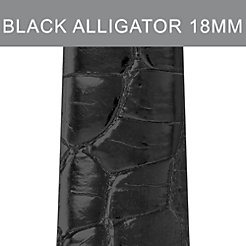 18mm Black Alligator (Thin) Strap