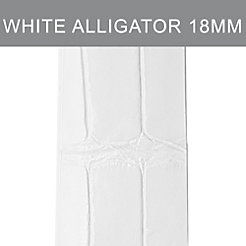 18mm White Alligator (Thin) Strap