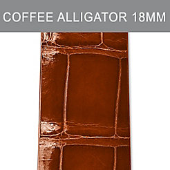 18mm Coffee Thin Alligator Strap