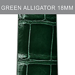 18mm Green Thin Alligator Strap