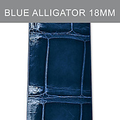 18mm Blue Thin Alligator Strap