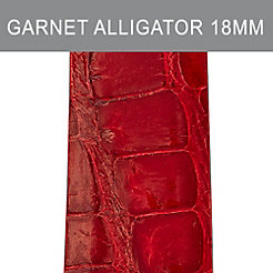 18mm Garnet Alligator (Thin) Strap