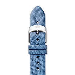 18mm Smokey Blue Thin Saffiano Strap