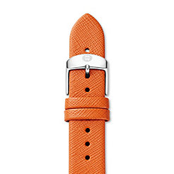 18mm Burnt Orange Thin Saffiano Strap