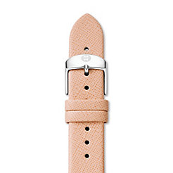 18mm Peach Thin Saffiano Strap