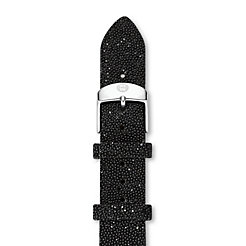 18mm Black Crystal Strap
