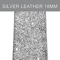 18 mm Silver Crystal Strap