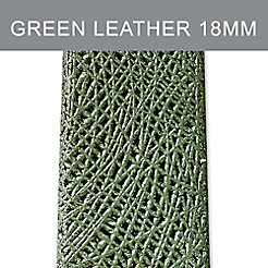 18mm Green Leather Strap