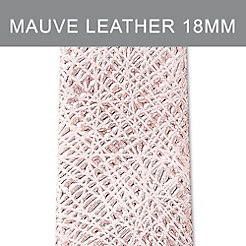 18mm Pale Mauve Thin Bark Leather Strap