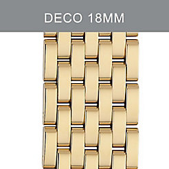 18mm Deco 7- Link Gold Bracelet