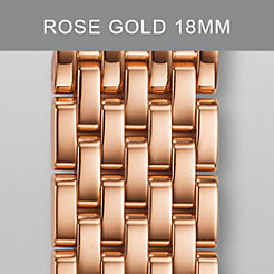 18mm Deco 7-Link Rose Gold Bracelet