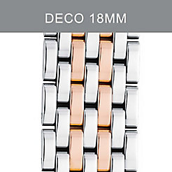 18mm Deco 7-Link Rose Gold Two-Tone Bracelet