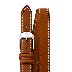 18mm Saddle Calf Skin Double Wrap Strap