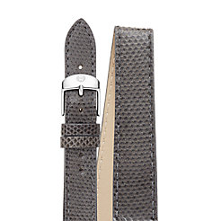 18mm Shadow Grey Snake Double Wrap Strap