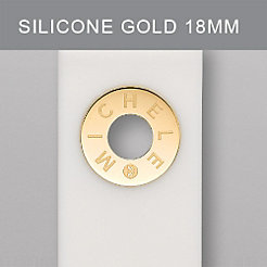 18 mm White Silicone Gold Grommet