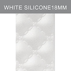18mm White Quilted Silicone Strap