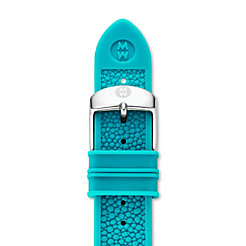 18mm Turquoise Stingray Silicone Strap