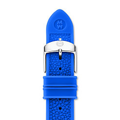 18mm Blue Stingray Silicone Strap