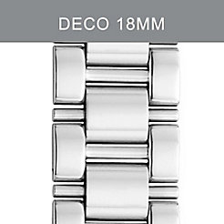 18mm Deco 3-Link Stainless Steel Bracelet with Diamonds