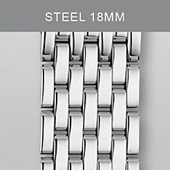 18 mm Deco Moderne 7-Link Stainless Steel Bracelet
