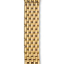 18mm Deco Moderne 7 Link Gold Bracelet