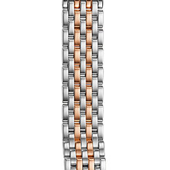 18mm Caber Two-Tone Rose Gold Stainless Steel Bracelet