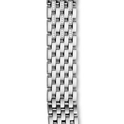 18mm Caber 7-Link Stainless Steel Diamond Bracelet