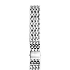 18mm Deco 7-Link Taper Steel Bracelet with Diamonds