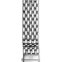 18mm CSX 7-Link Taper Steel Bracelet with Diamonds