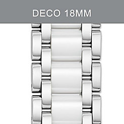 18 mm Deco White Ceramic Combo Bracelet
