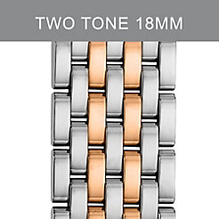 18mm Serein 7-Link Rose Gold Two-Tone Bracelet