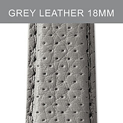 18mm Grey Perforated Leather