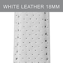 18mm White Perforated Leather