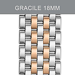 18mm Gracile 7-Link Two-Tone Rose Gold Bracelet