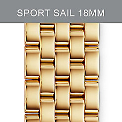 18mm Sport Sail Small 5-LinkGold Bracelet