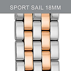 18mm Sport Sail Small 5-Link Two Tone Rose Gold Bracelet