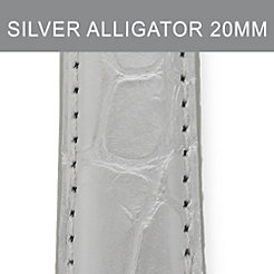 20mm Silver Alligator Strap