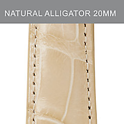 20mm Natural Alligator Strap