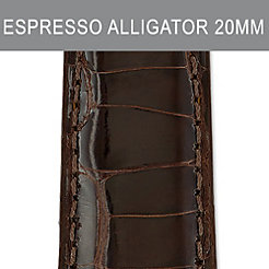 20mm Espresso Alligator Strap