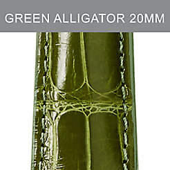 20mm Green Olive Alligator Strap