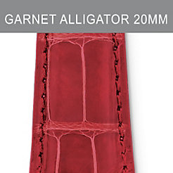 20mm Garnet Alligator Strap